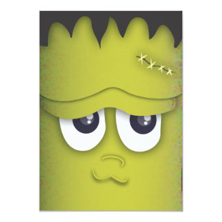 気味悪いモンスターの頭部のハローウィンパーティの招待状 カード