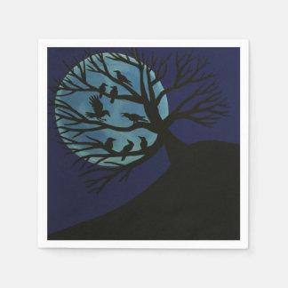 気味悪いワタリガラスの木のナプキン スタンダードカクテルナプキン