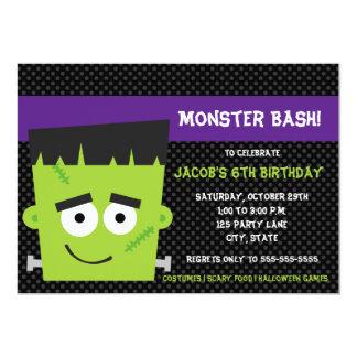 気味悪い友人のハロウィンの誕生日の招待状 カード