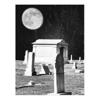 気味悪い墓地の郵便はがき ポストカード
