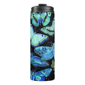 気味悪い暗藍色の蝶ガの上昇温暖気流のタンブラー タンブラー