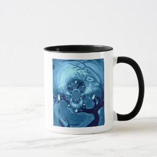 気味悪い木のフクロウの芸術 マグカップ