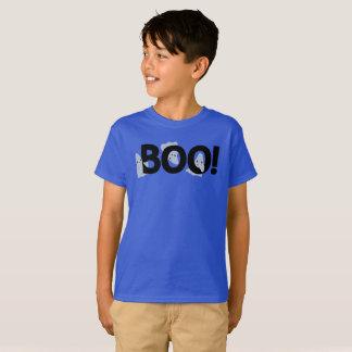 気味悪い漫画の幽霊の幽霊のよく出るなブーイングハロウィン Tシャツ