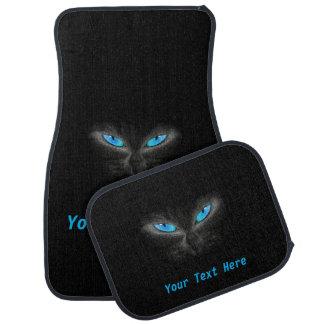 気味悪い青い目の猫のフルセット車のフロアマット カーマット