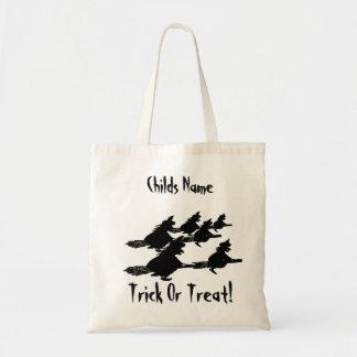 気味悪い飛行witches00のほうきの柄のトリック・オア・トリート トートバッグ