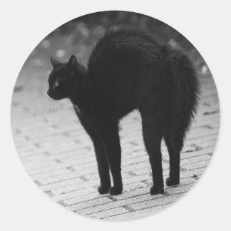 気味悪い黒猫のゴシックのステッカーセット ラウンドシール