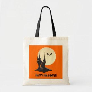 気味悪く幽霊のよく出るな城のハッピーハローウィン トートバッグ