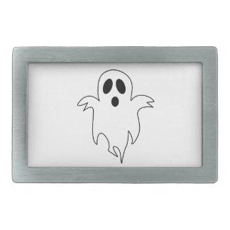 気味悪く白い幽霊 長方形ベルトバックル