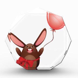 気球が付いているチョコレートバニー 表彰盾