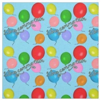 気球が付いているLibre Commeのl'Air (空気として自由な) ファブリック