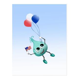 気球との7月4日ののぞき見 ポストカード