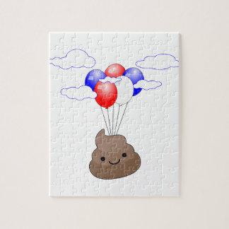 気球とのPoo Emojiの飛行 ジグソーパズル
