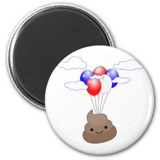 気球とのPoo Emojiの飛行 マグネット