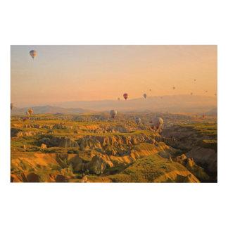 気球によって満たされる空 ウッドウォールアート