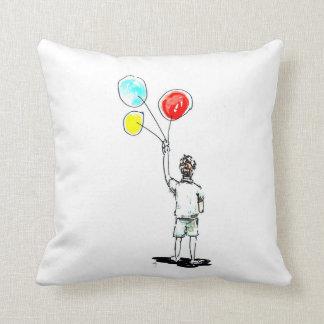 気球のアメリカ人のMojorの枕を持つ男の子 クッション
