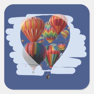 気球のステッカーの気球 スクエアシール