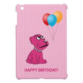 気球のハッピーバースデーのかわいい漫画犬 iPad MINI カバー