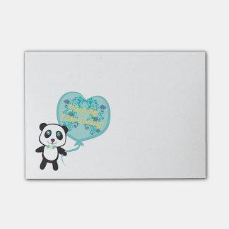 気球のポスト・イットを持つかわいいパンダ ポストイット
