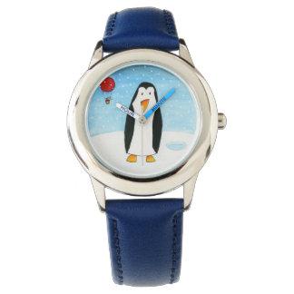 気球のマウス及びペンギン 腕時計