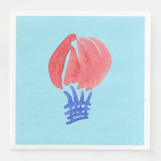 気球の夕食の紙ナプキン