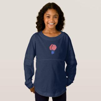 気球の女の子のジャージーの精神のワイシャツ ジャージーTシャツ
