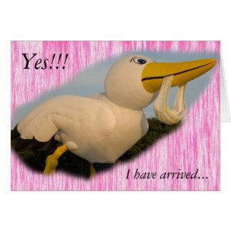 気球の女の子、Yes!!! 、私は…着きました カード