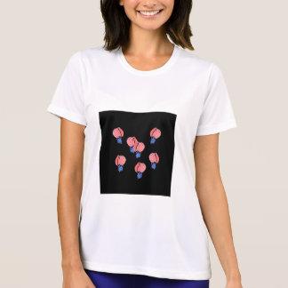気球の女性のスポーツのTシャツ Tシャツ