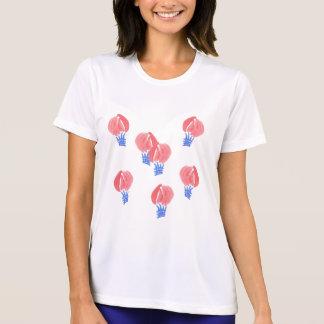 気球の女性の性能のTシャツ Tシャツ