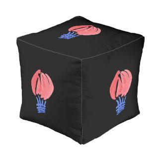 気球の小さいポリエステルによって立方体にされるPouf プーフ