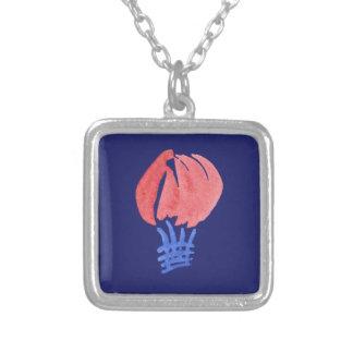 気球の小さい正方形のネックレス シルバープレートネックレス