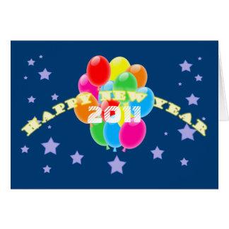 気球の年賀状のテンプレート カード