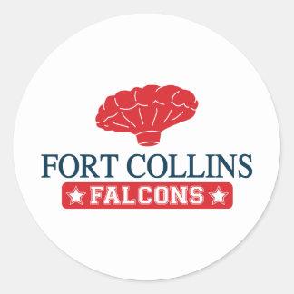 気球の男の子の家Fort Collinsの《鳥》ハヤブサ- ラウンドシール