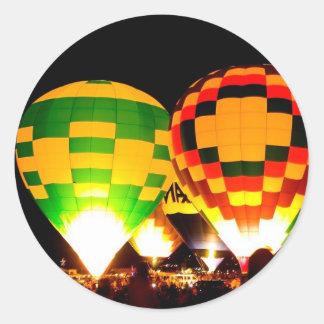 気球の白熱 ラウンドシール
