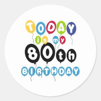 気球の第80誕生日 ラウンドシール