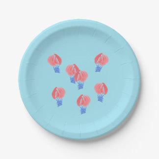 """気球の紙皿7"""" ペーパープレート"""