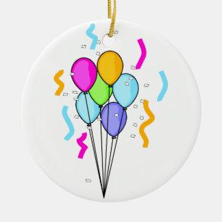 気球の花束の円形のオーナメント セラミックオーナメント