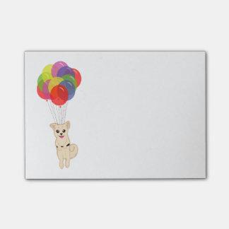 気球を持つ子犬 ポストイット