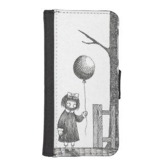 気球を持つ気色悪い女の子 iPhoneSE/5/5sウォレットケース