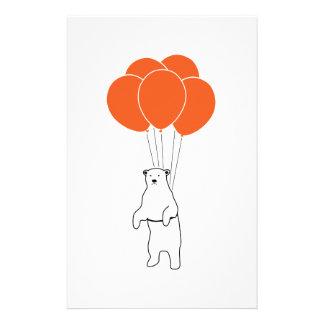 気球を持つ飛んでいるな白くま 便箋