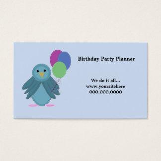 気球を持つ鳥-誕生会のプランナー 名刺