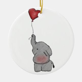 気球を握っている象 セラミックオーナメント