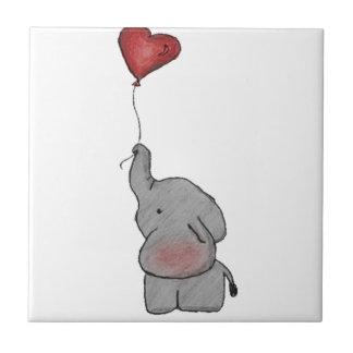 気球を握っている象 タイル