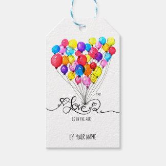 気球愛は空気|ハートの書道にあります ギフトタグ