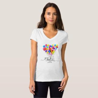 気球愛は空気|ハート|の書道にあります Tシャツ