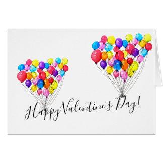 気球愛|ハッピーバレンタインデー カード
