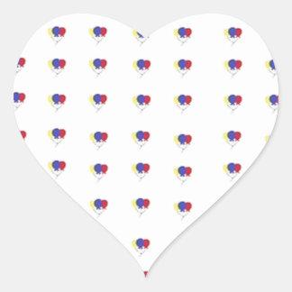 気球 ハートシール