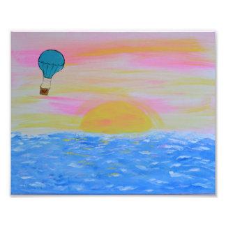 気球 フォトプリント