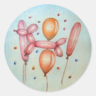 気球 ラウンドシール