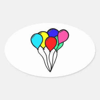 気球 楕円形シール