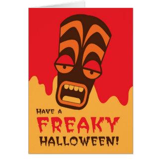 気紛れなハロウィンを過して下さい! tikiの顔の叫びを使って カード